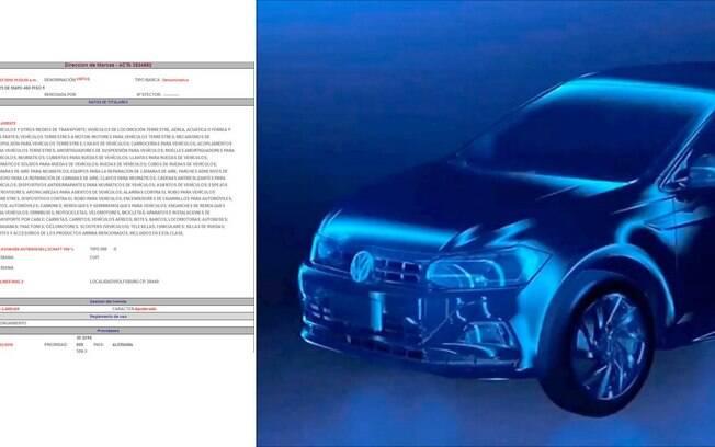 Imagem revela patente do nome Virtus para o novo sedã que a Volkswagen deverá vender na América do Sul