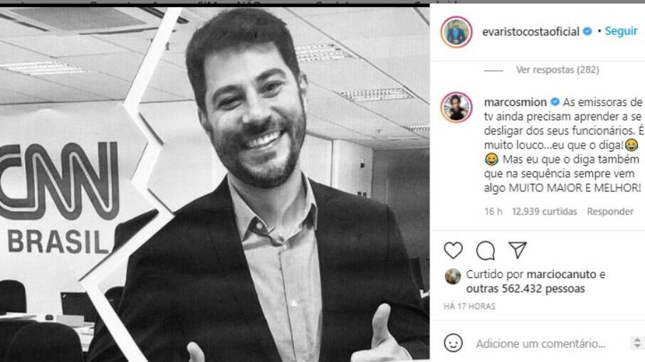 Postagem de Evaristo Costa