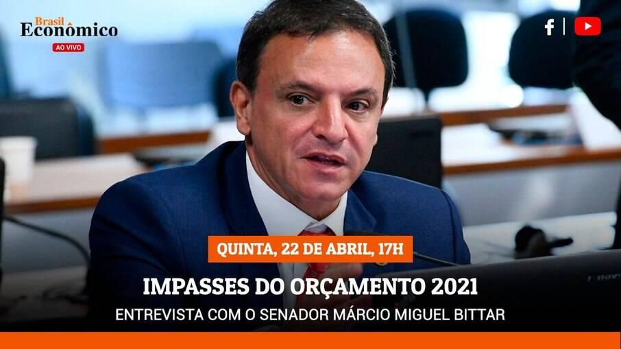 Márcio Bittar (MDB-AC) foi relator do Orçamento de 2021 no Congresso Nacional