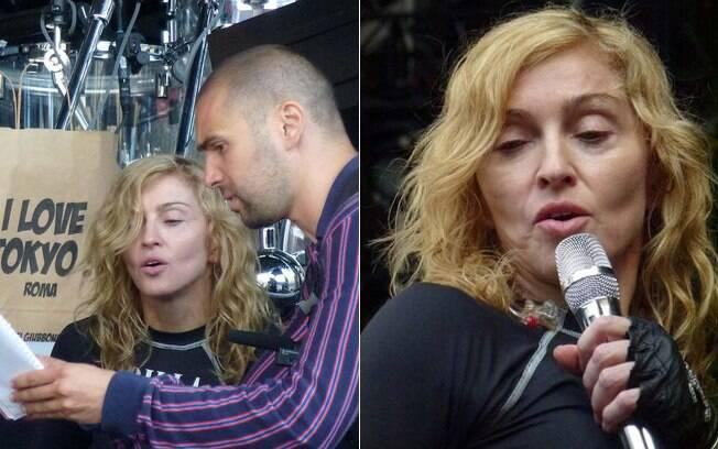 Madonna ensaia sem maquiagem para sua turnê na Itália