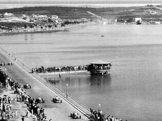 Anos 50.Reprodução de uma corrida de Fórmula 1 disputada na região da Pampulha, em BH