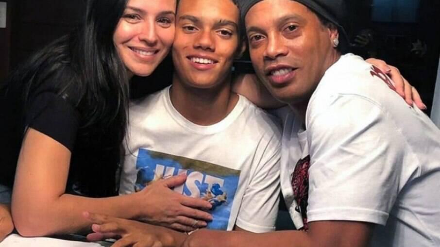 Ronaldinho e filho