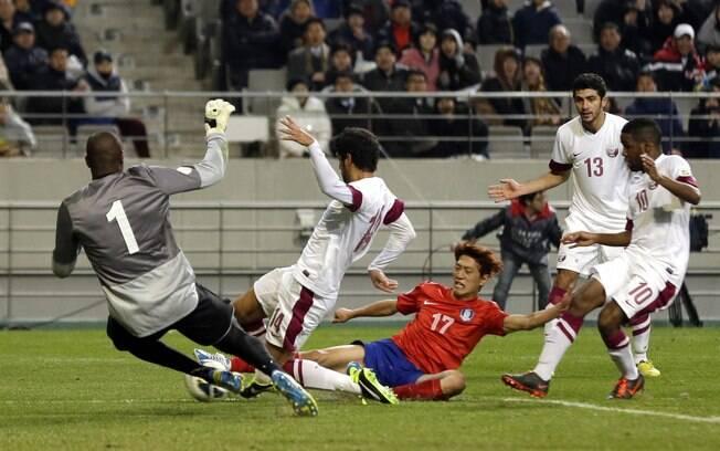 Coreia do Sul e Catar fizeram um jogo  empolgante, decidido apenas no final, com a  vitória dos coreanos por 2 a 1