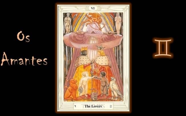 Previsão da semana do tarô de Thoth indica o Arcano VI: Os Amantes