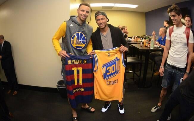 Stephen Curry e Neymar