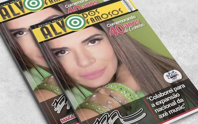 Mara Maravilha posa para nova edição da revista Alvo dos Famosos