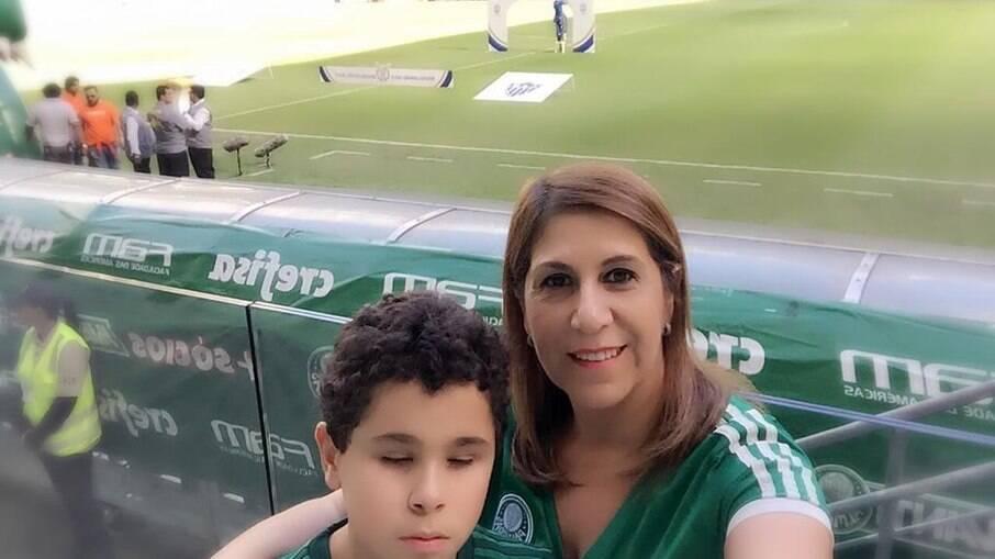 Silvia Grecco e seu filho vão acompanhar Palmeiras no Mundial