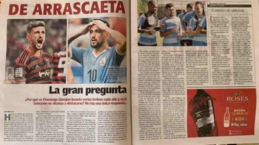 Arrascaeta é questionado no Uruguai