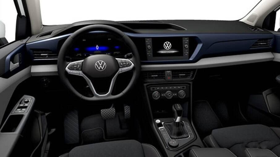 VW Taos Comfortline tem interior espaçoso e algumas diferenças em relação ao topo de linha, como o cluster