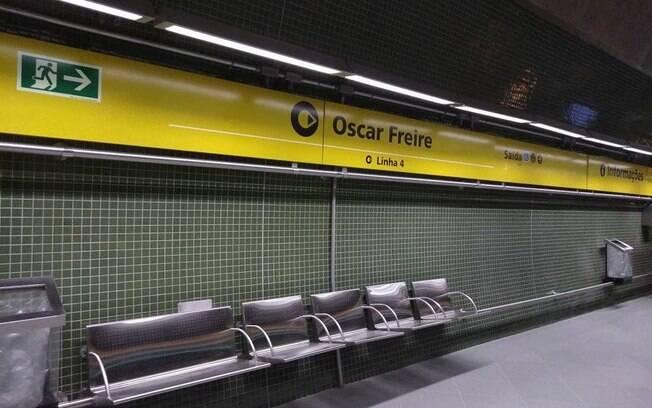 Estação Oscar Freire do metrô, em São Paulo
