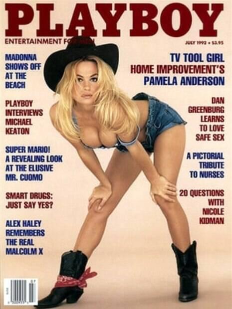 Pamela Anderson é uma das queridinhas da Playboy: entre as vezes que a atriz já posou estão os anos de 1989, 1992 e em 2016