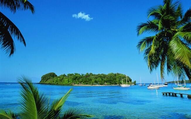 St. Vincent tem praias belíssimas de mar caribenho com sossego e tranquilidade