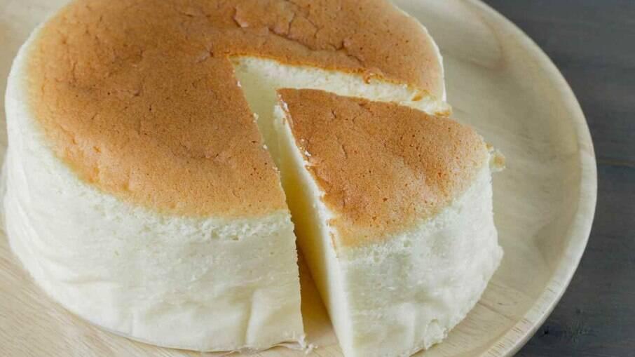 O cheesecake japonês também é chamado de