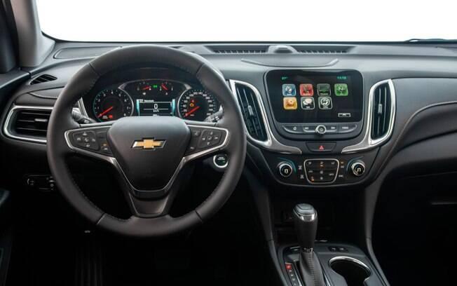 O Equinox 2020 ainda não traz internet a bordo, mas a Chevrolet prometeu o recurso para 2021