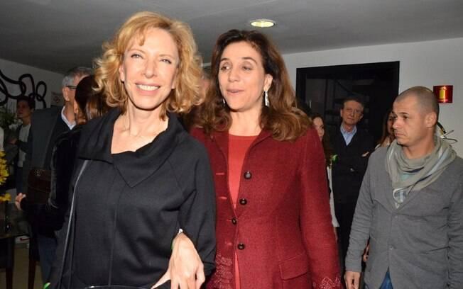 Marisa Orth e Marília Gabriela curtem show de Gal Costa