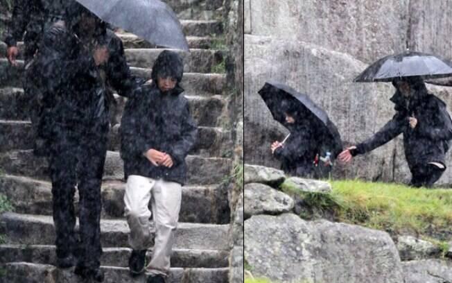 Lucas encara chuva em passeio no Peru