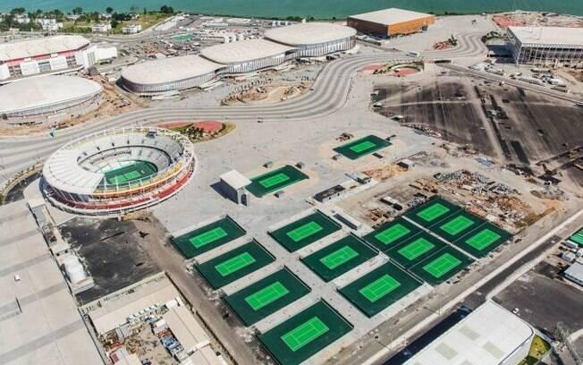 O Parque Olímpico da Barra, onde fica o Centro de Tênis