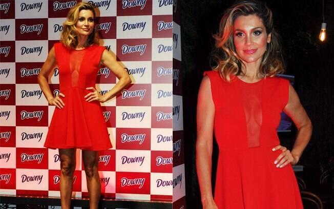 Flávia Alessandra e seu vestido transparente
