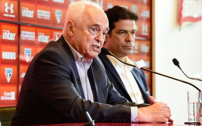 Leco, presidente do São Paulo, e Raí, diretor de futebol do clube