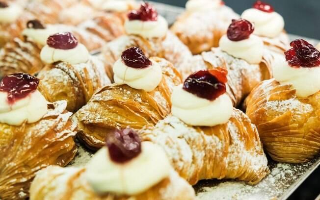 Sfogliatelle é um doce típico da Itália