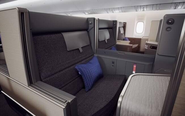 Os assentos-sofá da classe executiva são apenas uma das novidades da companhia aérea All Nippon Airways