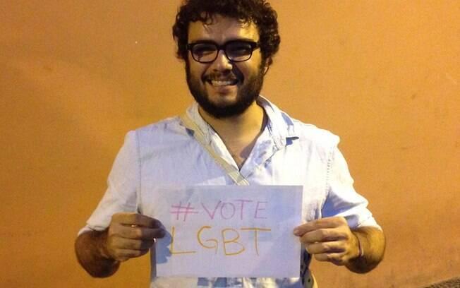 Marcos Visnadi, um dos coordenadores da campanha #VoteLGBT