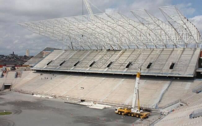 Obras do estádio do Corinthians em Itaquera
