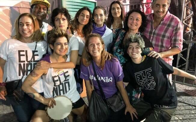 Luis Miranda e outros famosos marcaram presença em ato contra Jair Bolsonaro, candidato à Presidência