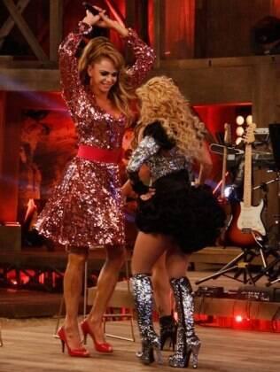 Léo Áquilla dança com Joelma na final de