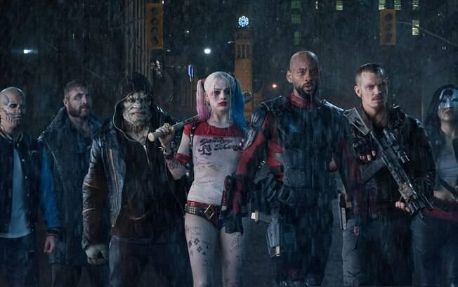 O grupo de vilões que forma o Esquadrão Suicida que chega aos cinemas nesta quinta-feira (4)