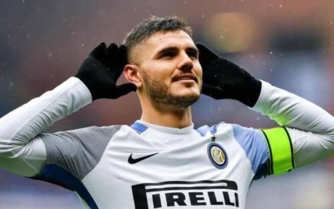 Mauro Icardi atua na Inter de Milão, da Itália, e é um dos desfalques da Argentina