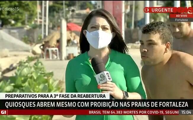 Wânyffer Monteiro, repórter da GloboNews