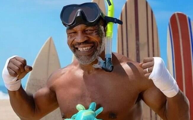Tyson promove luta contra o tubarão