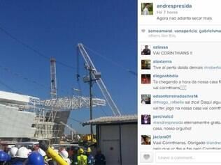 Andrés Sanchez postou foto no Instagram e alfinetou