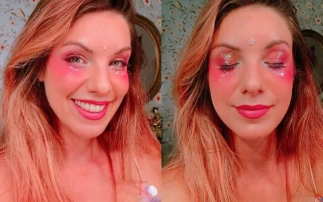 A apresentadora MariMoon ensina uma maquiagem para o carnaval que é prática de ser feita e bem no clima da folia