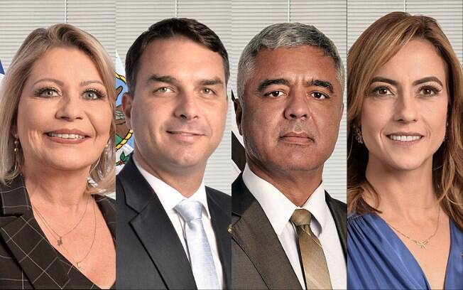senadores PSL Juíza Selma, Flávio Bolsonaro, Major Olímpio e Soraya Thronicke