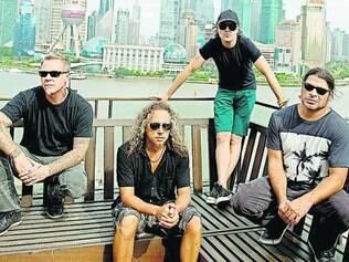 Metallica. Uma das mais importantes bandas de metal se apresenta no segundo dia do festival