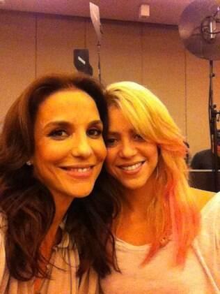 Ivete Sangalo e  Shakira: só elogios uma a outra!