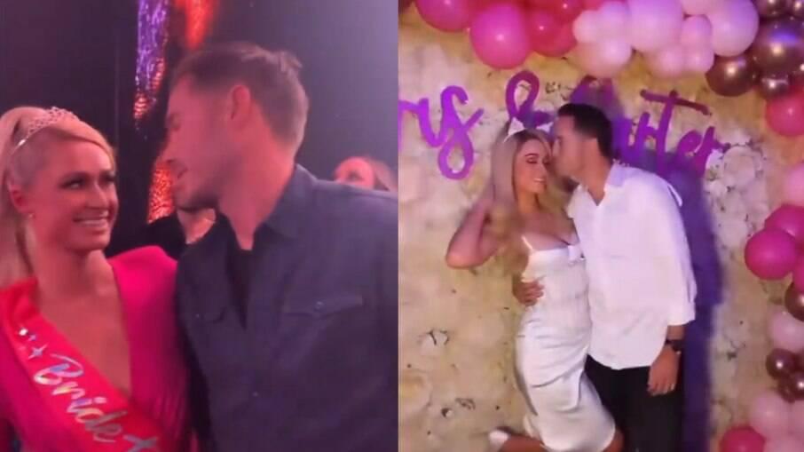 Paris Hilton e noivo em despedida de solteiro do casal