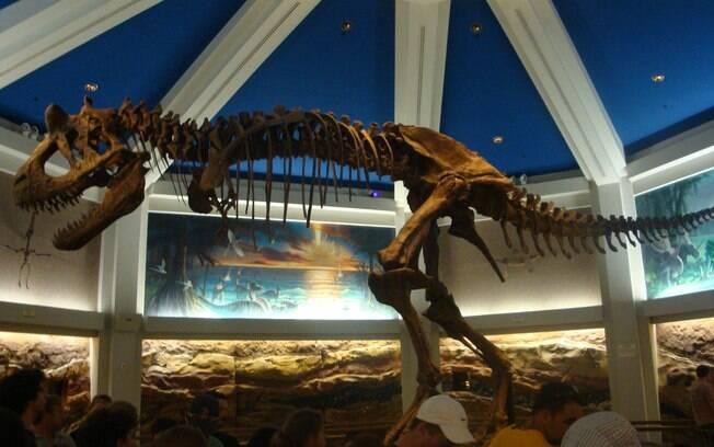 A fila no brinquedo Dinossaur, no Animal Kingdom, já é uma atração a parte