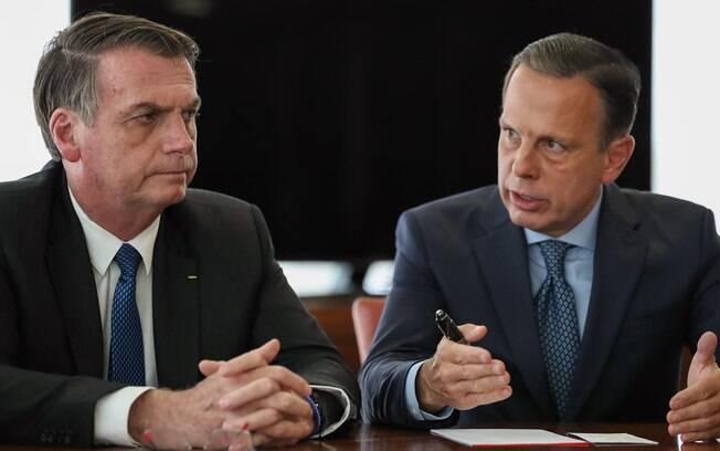 João Doria e Jair Bolsonaro vão viajar juntos para encontros nos EUA e na China