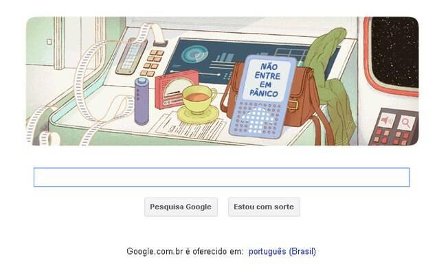 Doodle interativo do Google faz homenagem ao escritor Douglas Adams