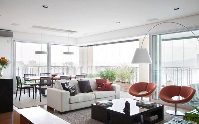 Varanda gourmet chama atenu00e7u00e3o em apartamento integrado - Arquitetura ...