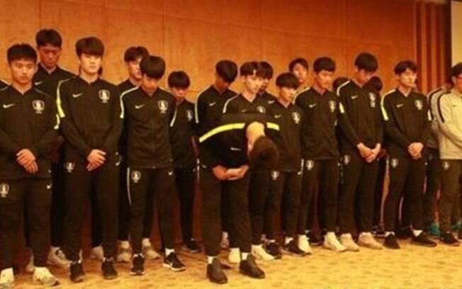 Jogadores da Coreia do Sul se desculparam publicamente