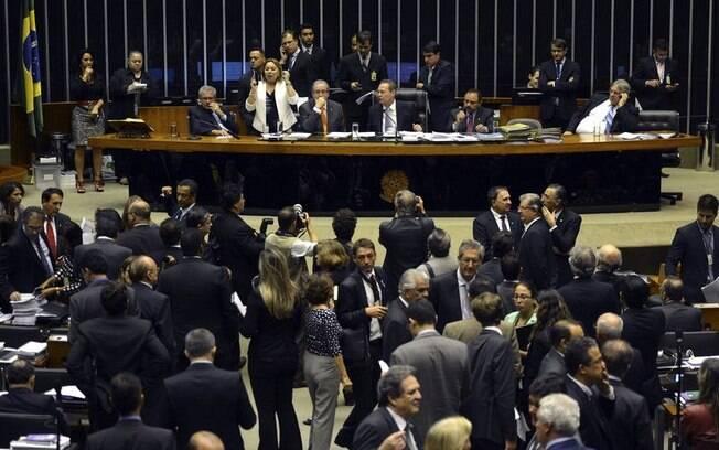 Os presidentes da Câmara, Eduardo Cunha, e do Senado, Renan Calheiros, durante sessão no Congresso Nacional para apreciar e votar vetos presidenciais