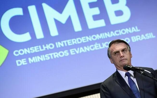 Bolsonaro discursou durante encontro com pastores evangélicos
