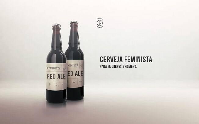 Cerveja Feminista é vendida em garrafas de 600ml, por R$ 14