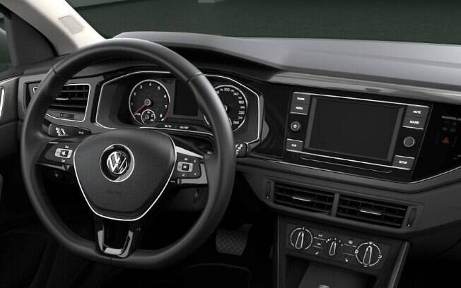 Apesar de ter aspecto simples, interior do VW Polo tem comandos mais bem posicionados e mais fáceis de serem acionados