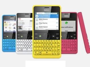 Asha 210 vem em cinco cores
