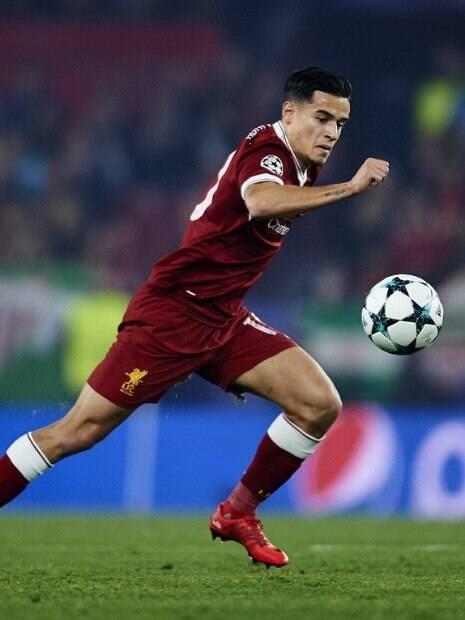 Coutinho em ação pelo Liverpool